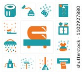 set of 13 icons such as towels  ...