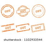 gst stamps on white | Shutterstock .eps vector #1102933544