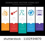 5 vector icons such as lower... | Shutterstock .eps vector #1102934870