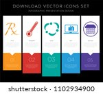5 vector icons such as rx ... | Shutterstock .eps vector #1102934900