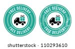 free delivery retro grunge badge | Shutterstock .eps vector #110293610