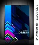 professional business flyer... | Shutterstock .eps vector #110294378