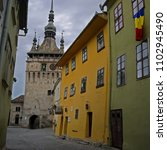 castle in romania stock images. ... | Shutterstock . vector #1102945490