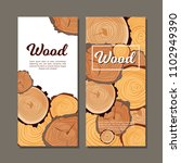 design flyers with spilled wood | Shutterstock .eps vector #1102949390