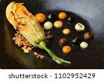haute cuisine appetizer with...   Shutterstock . vector #1102952429