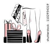 Vector Girl In High Heels...