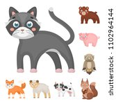 toy animals cartoon icons in... | Shutterstock . vector #1102964144