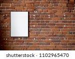 blank poster  mockup  project... | Shutterstock . vector #1102965470