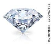 a beautiful sparkling diamond... | Shutterstock . vector #1102967576