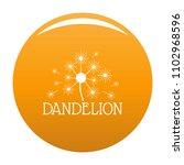 fluffy dandelion logo icon.... | Shutterstock .eps vector #1102968596
