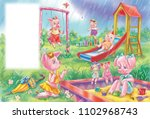 colorful illustration with...   Shutterstock . vector #1102968743