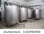 storage tanks for milk used for ... | Shutterstock . vector #1102983500