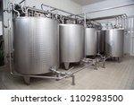 storage tanks for milk used for ... | Shutterstock . vector #1102983500