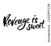 revenge is sweet. hand drawn... | Shutterstock .eps vector #1102991138