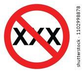set no sign porn 18  xxx  ... | Shutterstock .eps vector #1102998878