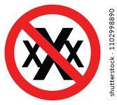 set no sign porn 18  xxx  ... | Shutterstock .eps vector #1102998890