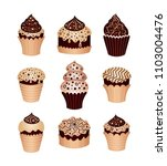 set of desserts. icons   Shutterstock .eps vector #1103004476