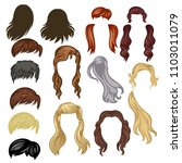 hair vector isolated... | Shutterstock .eps vector #1103011079
