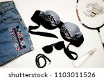 fashionable clothes for sports...   Shutterstock . vector #1103011526