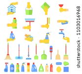 tools for creating cleanliness... | Shutterstock . vector #1103016968