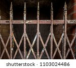 an old  rusty  accordion style... | Shutterstock . vector #1103024486