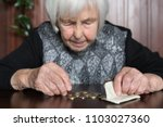 elderly 95 years old woman... | Shutterstock . vector #1103027360