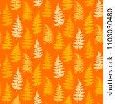 fern frond herbs  tropical... | Shutterstock .eps vector #1103030480