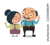 old senior man and woman... | Shutterstock .eps vector #1103038649