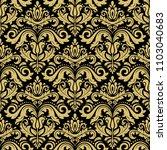 orient vector black and golden...   Shutterstock .eps vector #1103040683