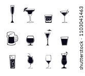 alcohol drinks   cocktail set... | Shutterstock .eps vector #1103041463