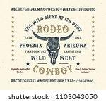 original handmade alphabet.... | Shutterstock .eps vector #1103043050