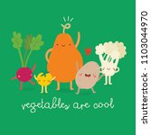 vegetables are cool cute... | Shutterstock .eps vector #1103044970