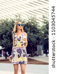 summer sunny lifestyle portrait ... | Shutterstock . vector #1103045744