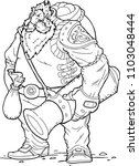 strong hero  vector image of...   Shutterstock .eps vector #1103048444