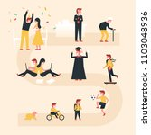 life cycle vector illustration... | Shutterstock .eps vector #1103048936