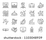 back to school icon set.... | Shutterstock .eps vector #1103048939