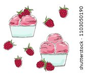 vector contour color raspberry...   Shutterstock .eps vector #1103050190
