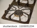 close up of single gas stove... | Shutterstock . vector #1103051234