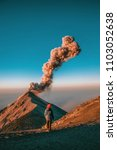 morning eruptions in guatemala | Shutterstock . vector #1103052638