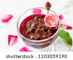 aromatic sweet red jam from... | Shutterstock . vector #1103059190