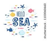 cute creative cards templates... | Shutterstock .eps vector #1103060660