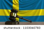 judge's gavel and block against ... | Shutterstock . vector #1103060783