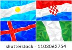 low poly flag  abstract... | Shutterstock .eps vector #1103062754
