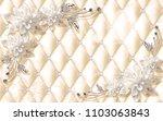 3d luxury wallpaper design with ... | Shutterstock . vector #1103063843