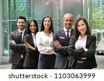 portrait of business people of... | Shutterstock . vector #1103063999
