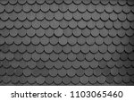 clay roof texture in black and... | Shutterstock . vector #1103065460