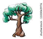 green tree  vector | Shutterstock .eps vector #1103065976
