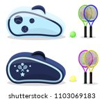 colored tennis rackets with... | Shutterstock .eps vector #1103069183