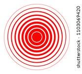 sign rings of pain. symbol... | Shutterstock .eps vector #1103069420