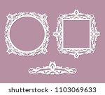 laser cut photo frame.... | Shutterstock .eps vector #1103069633